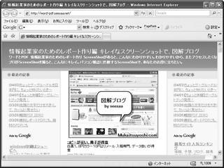 情報起業家のためのレポート作り編 キレイなスクリーンショットで、図解ブログ